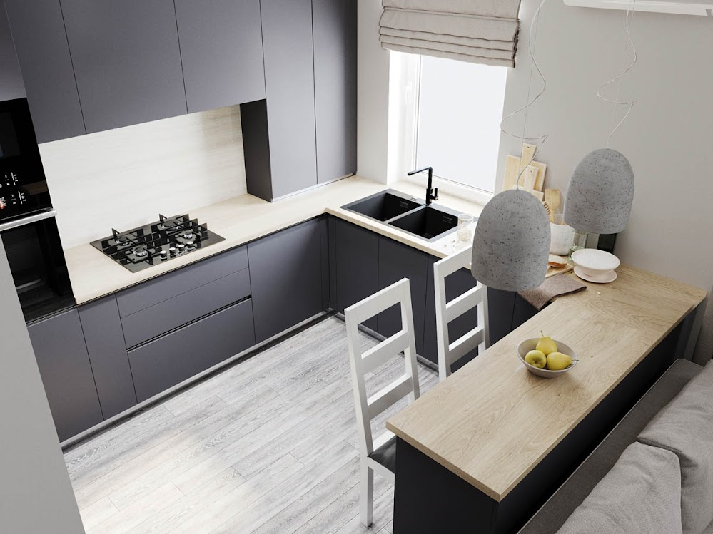clean-gray-kitchen