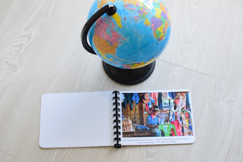Asia Geography Folder and Cultural Photo Album