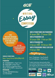 Lomba Writing Essay Competition 2018 by Univ. Pendidikan Indonesia