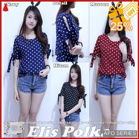 AFO186 Model Fashion Elis Polka Modis Murah BMGShop