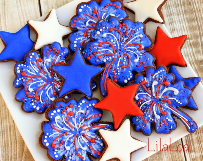 Easy Fireworks Cookie Tutorial