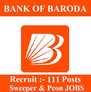 10th, Bank, Bank Of Baroda, BOB, freejobalert, Latest Jobs, Peon, Sarkari Naukri, Sweeper, West Bengal,