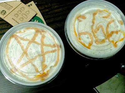 Pentagramm 666 - Kaffee mit Sahne lustig