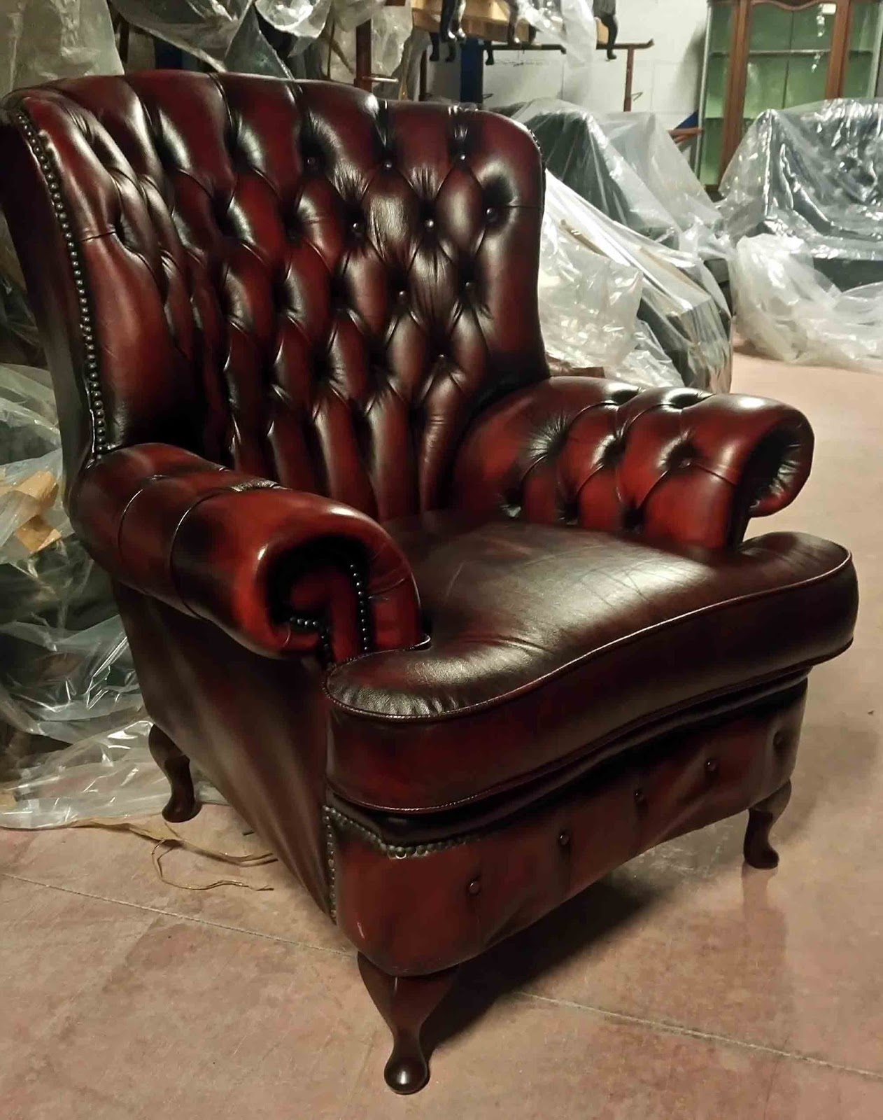 Poltrone Inglesi In Pelle.Poltrone Chesterfield Vintage Usate