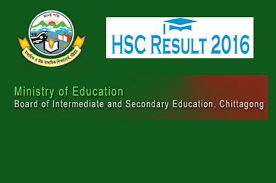 HSC result 2016 Chittagong board
