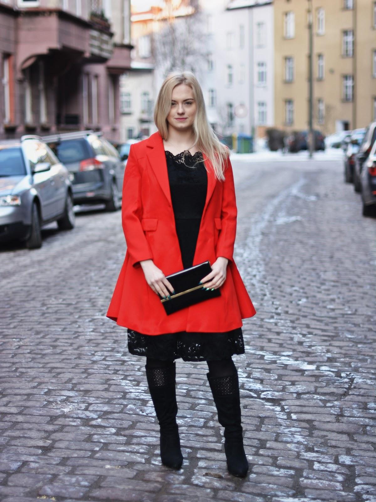 stylizacja z płaszczem