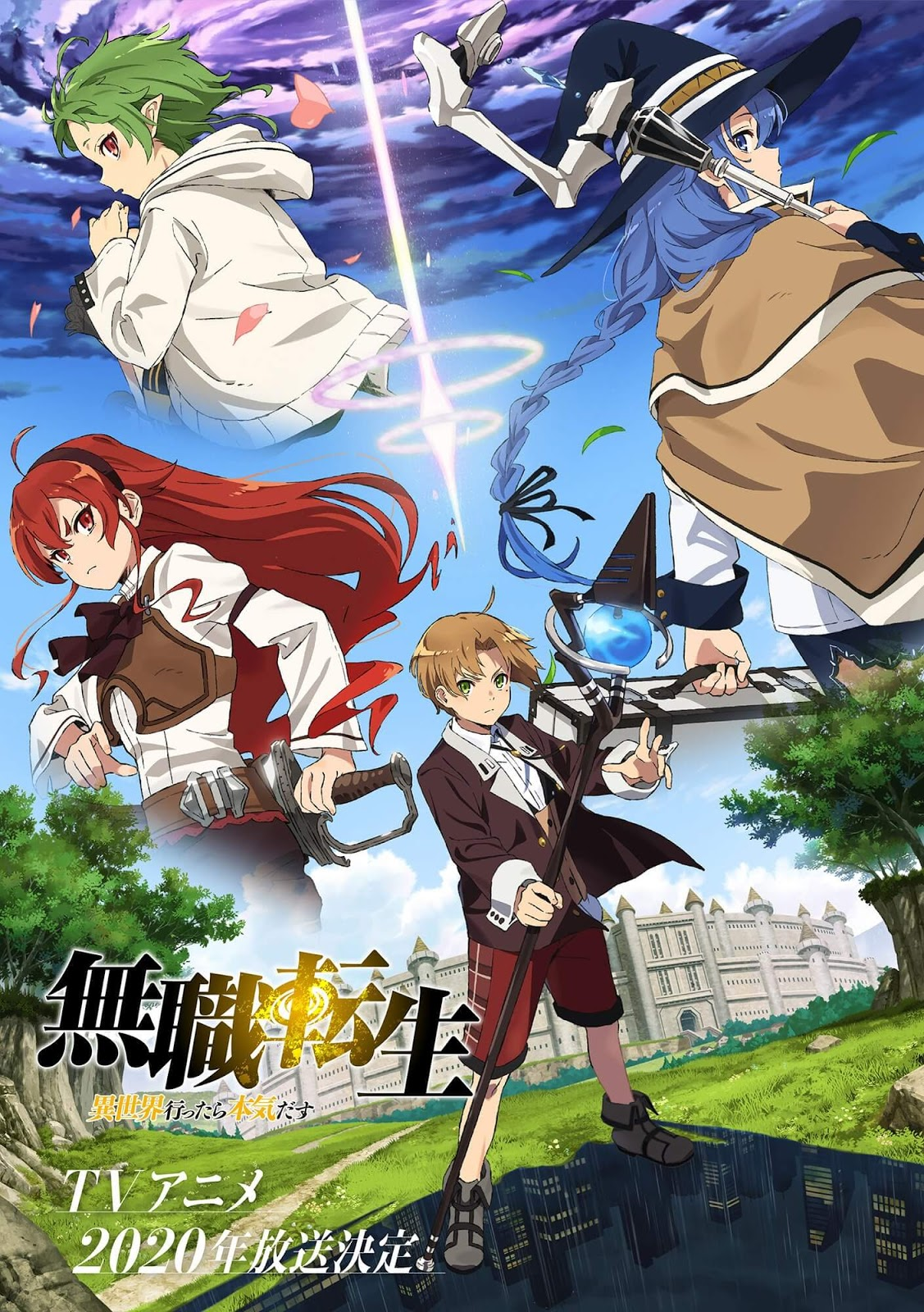 Mushoku Tensei Isekai Ittara Honki Dasu / Jobless Reincarnation caoa do anime com Rudeus, Roxy, Eris e Sylphie
