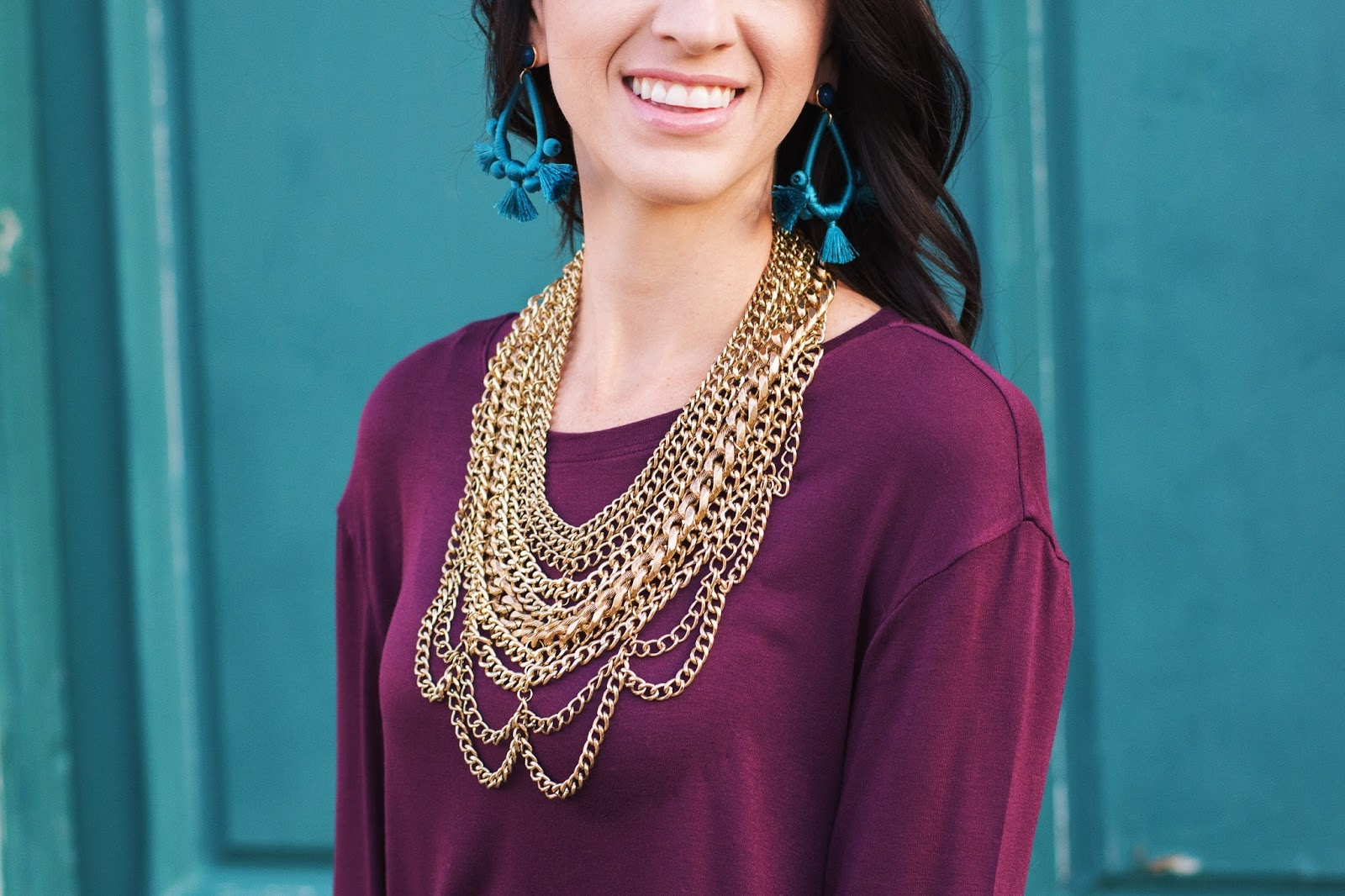 Gold Statement Necklace_Baublebar Courtney Bib