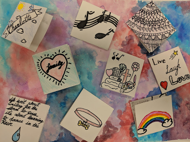 About Me Symbolism Creativity Card Series Drawing Art Project