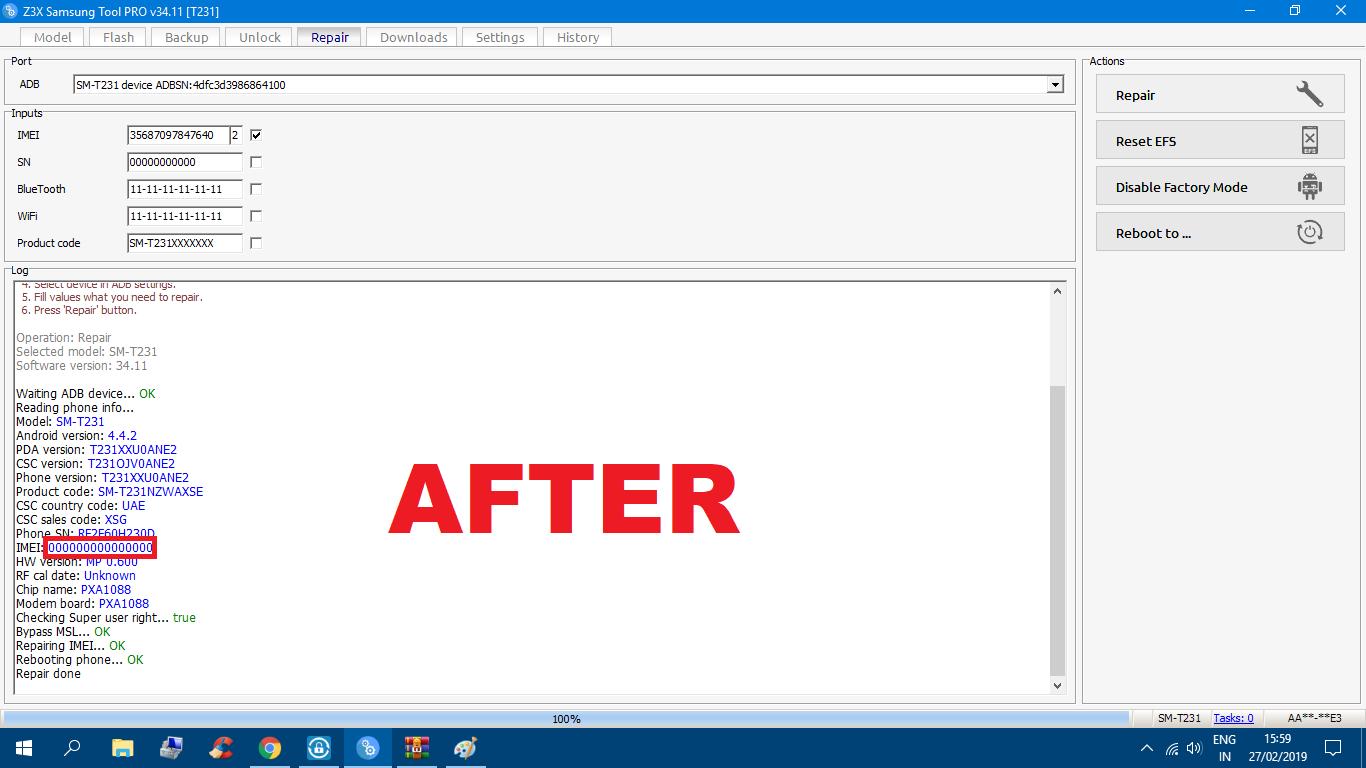 Repair Imei Samsung T211/T231 Fix Bypass MSL error (1) NVM damaged