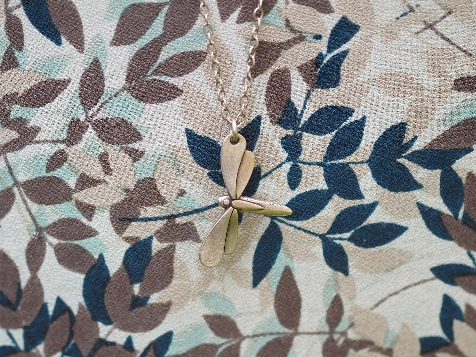 Long dragonfly pendant from www.lizzyo.co.uk