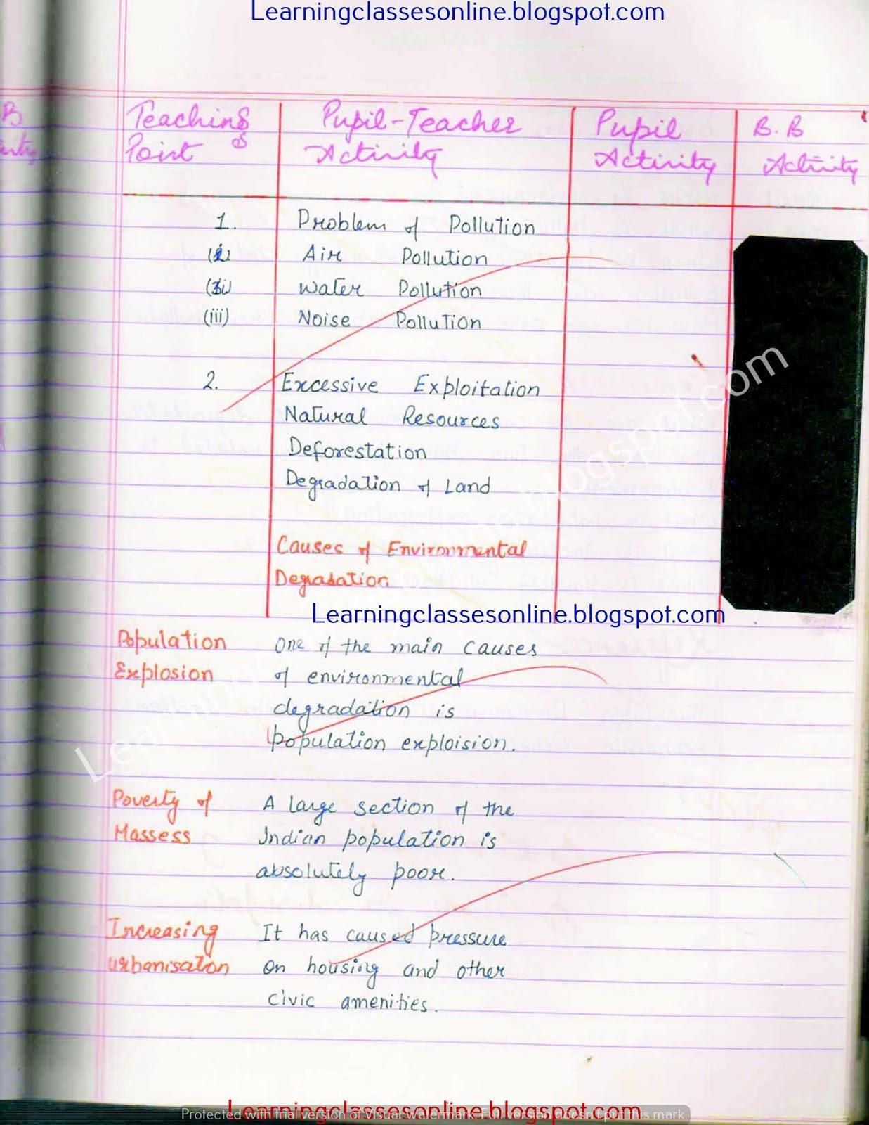 B.Ed economics lesson plan practical File free download pdf