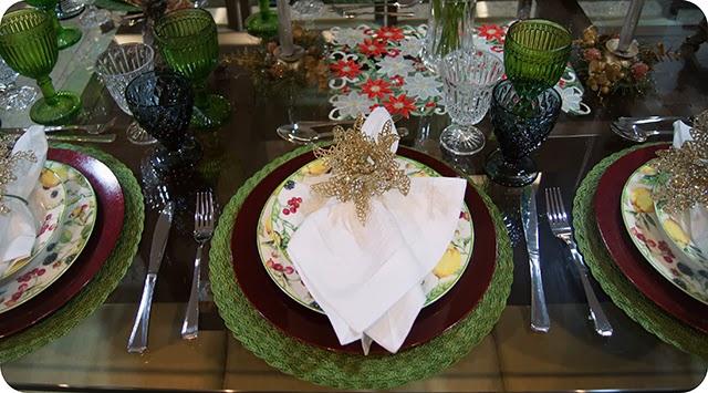 Mesa : Ceia de Natal - Decoração para o Jantar