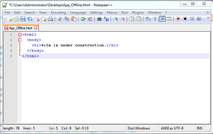 How to make a site off line in IIS ~ ASP With Arka | ASP NET