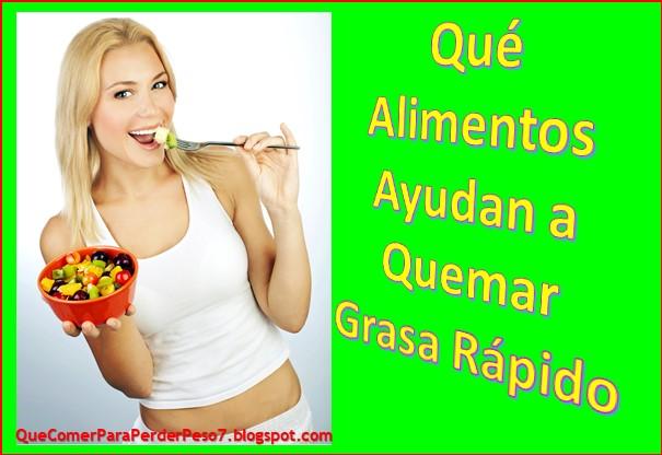 alimentos para bajar de peso grasa abdominal