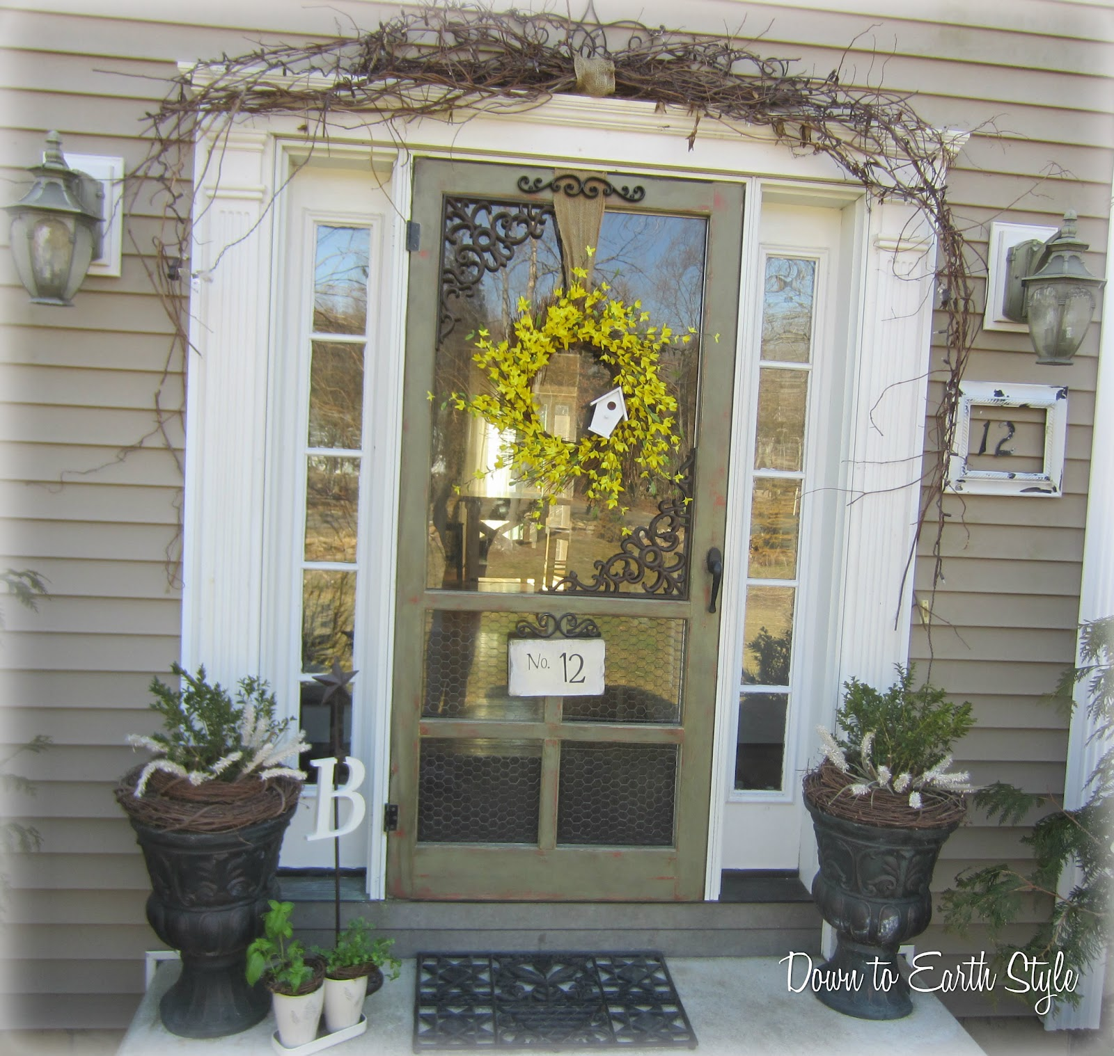 Forsythia wreath yellow - Down To Earth Style Signs Of Spring