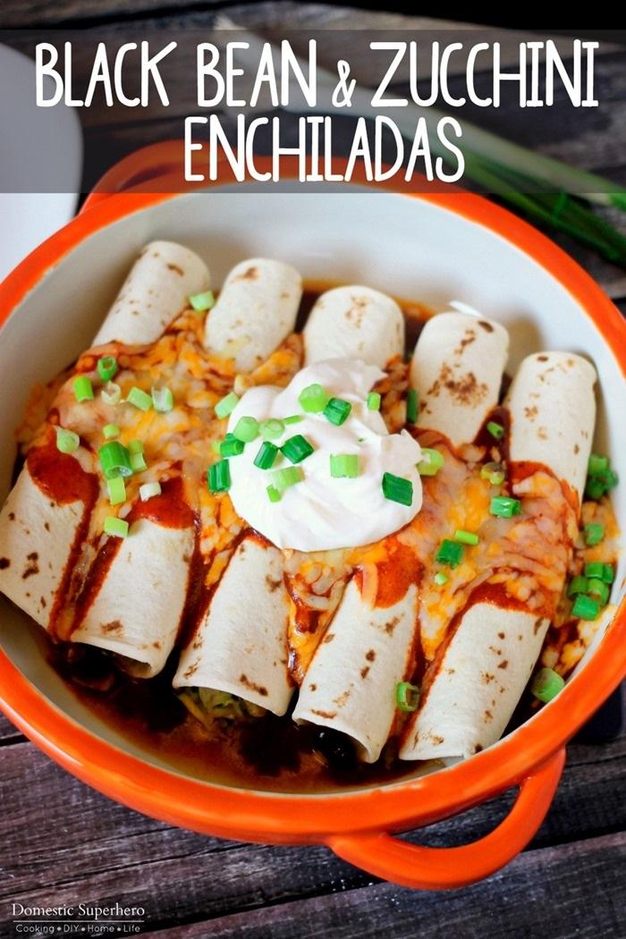 Black Bean and Zucchini Enchiladas