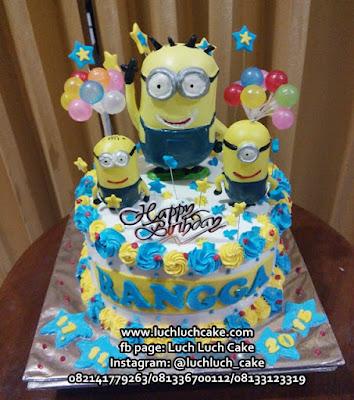 Kue Tart Ulang Tahun Tema Minon Untuk Anak Cowok