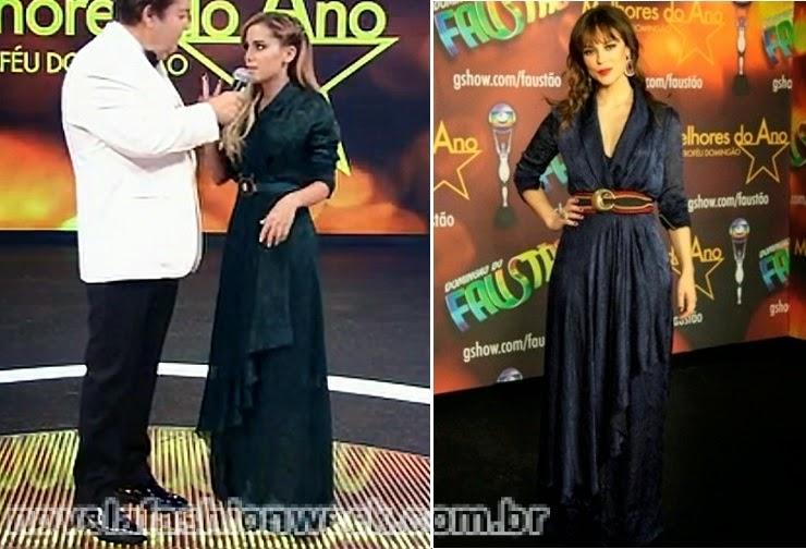 Anitta e Paola Oliveira  vestido igual
