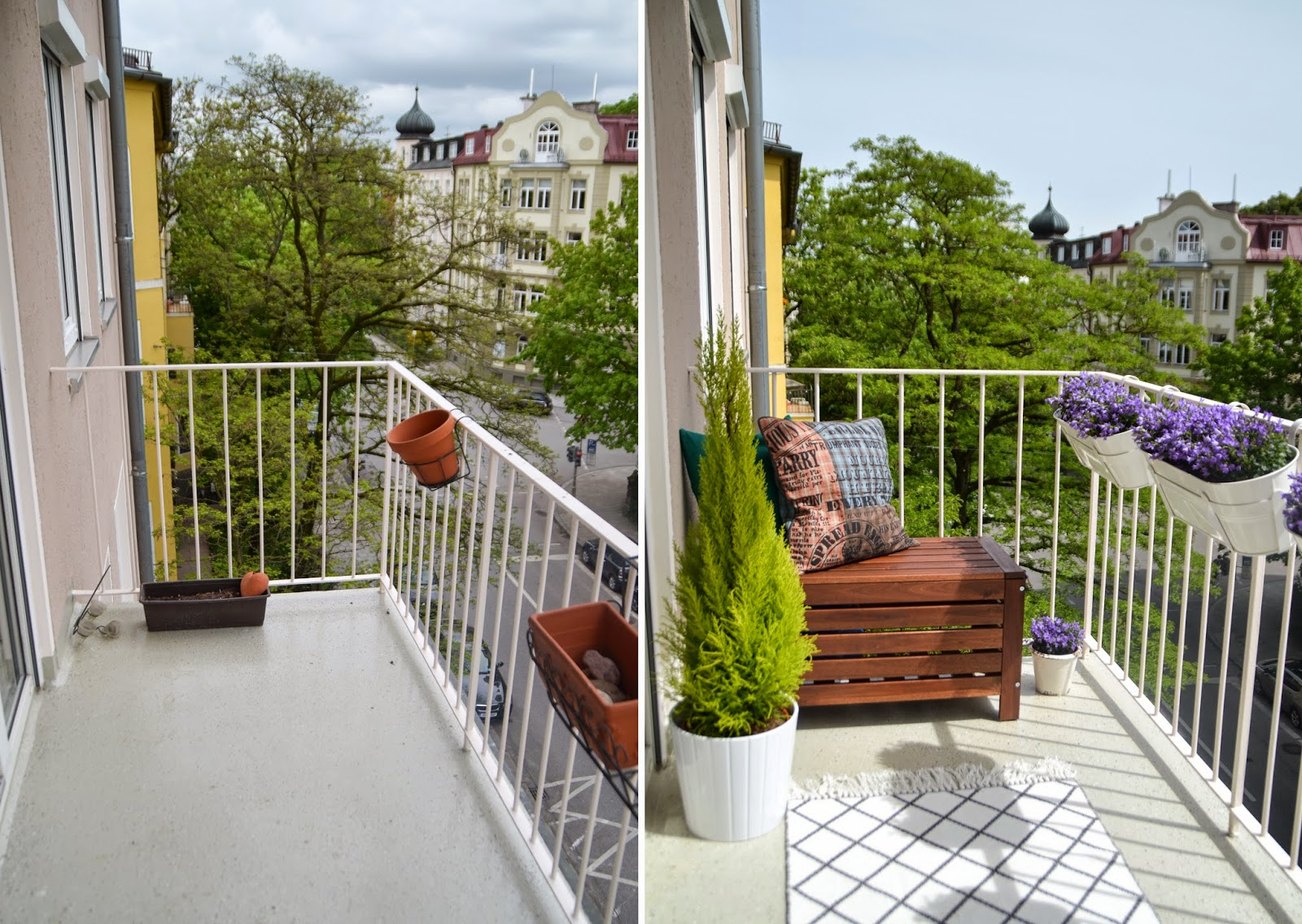 apartment balcony make over before after