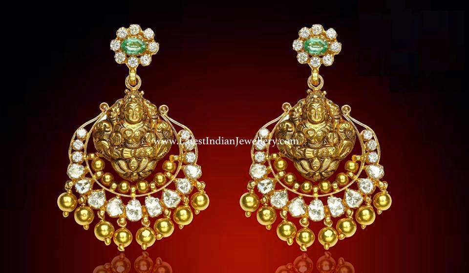 Lakshmi Design Gold Uncut Earrings