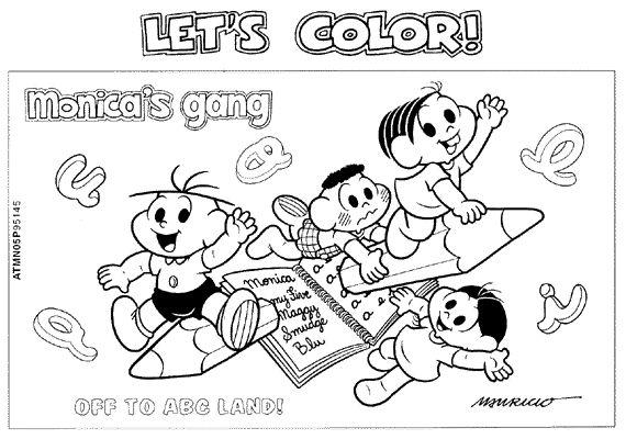Desenhos Para Colorir Turma Da Monica 11 Atividades E Desenhos