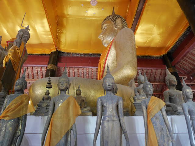 standing Buddha images in the Luang Prabang Kingdom art style