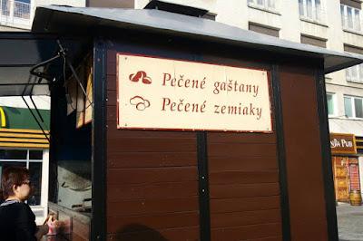 Roasted Chestnut and Baked Potato Stall at Bratislava Slovakia