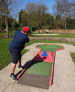 Scott on his way to victory on the Crazy Golf course