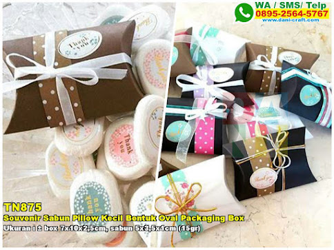 Souvenir Sabun Pillow Kecil Bentuk Oval Packaging Box