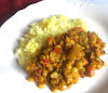 Indian Yellow Split Pea Curry with Tomatoes and Spices (Matar Dal)