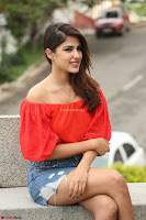 Rhea Chakraborty in Red Crop Top and Denim Shorts Spicy Pics ~  Exclusive 351.JPG