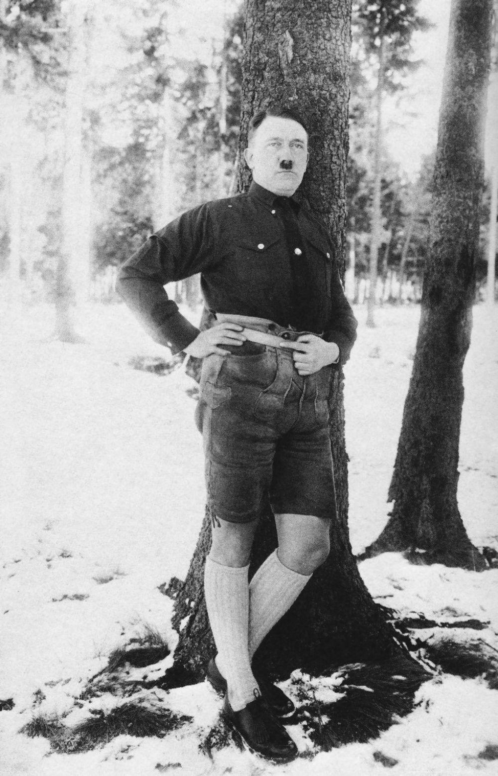 Hilarious Photos of Hitler Wearing Shorts and KneeHigh