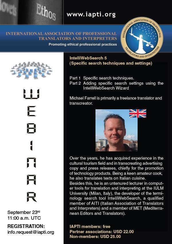 Registration for the second webinar