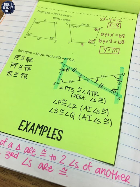 Congruent Figures Flipbook for Geometry Interactive Notebooks - perfect intro to congruent triangles