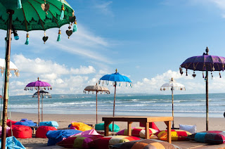 Colorful Beach Umbrella - Bali Island