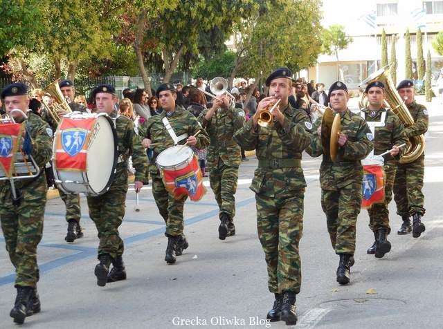 grecka parada wojskowa, grecja, chios, dzień ochi