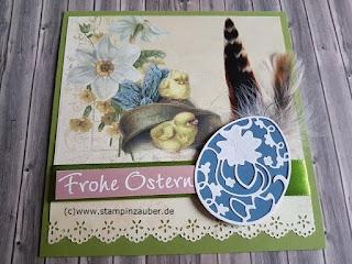 Osterkarten mit Designpapier von La Blanche von Silvi Provolija Unabh. Stampin' Up! Demo aus Jena Thüringen