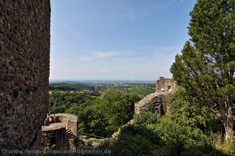 Blick von der Burg Baden in Badenweiler im Schwarzwald