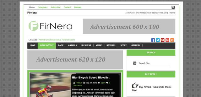 Firnera Simple And Minimalist Responsive WordPress Themes