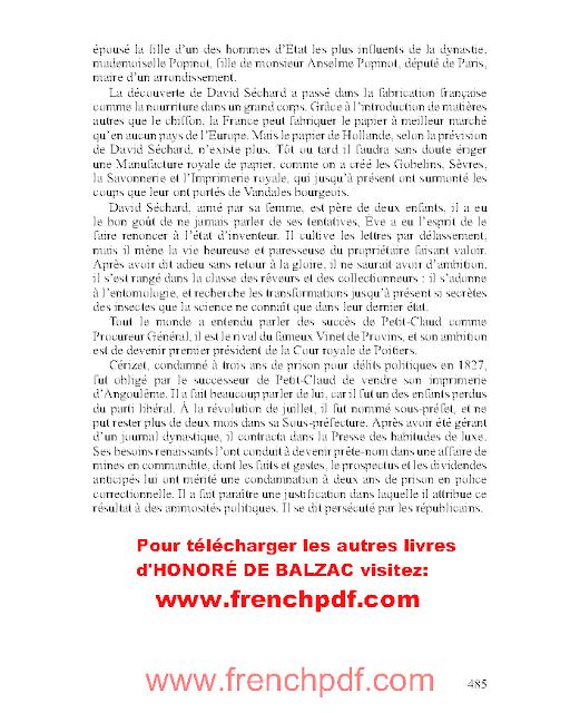 Illusions perdues en pdf par Honoré de Balzac