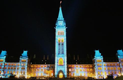 Parliament Hill Christmas Lights Ottawa