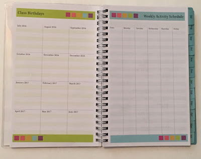 Blue Sky Today's Teacher Academic Stripe Planner