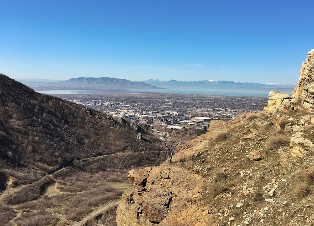 view of Provo City from Rock Canyon