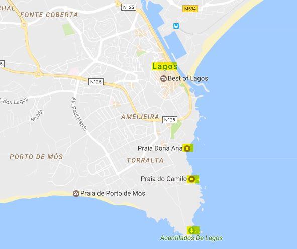 playas zona Lagos Portugal