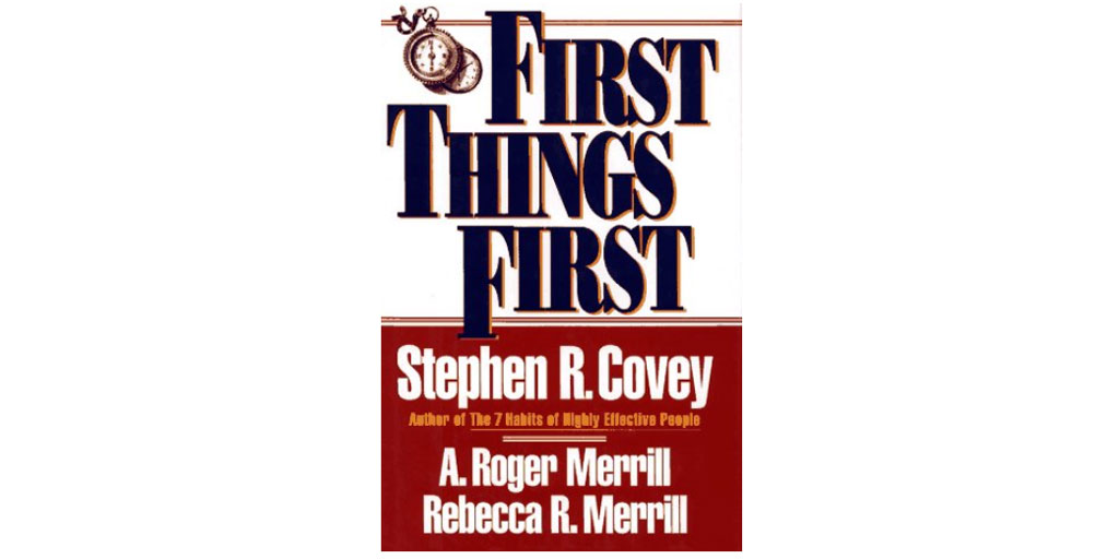 First Things First: Personal Development Book Club Selection