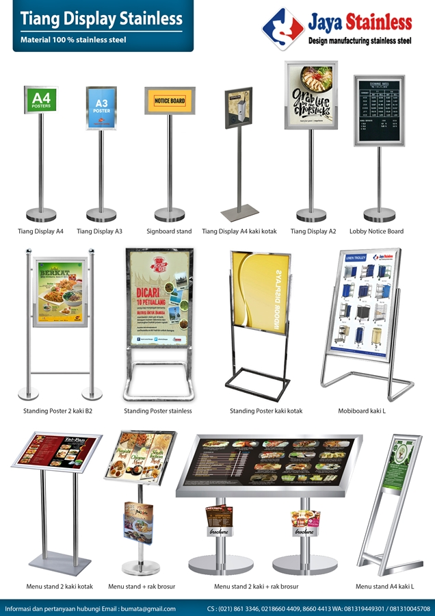 Katalog Tiang Display Stainless
