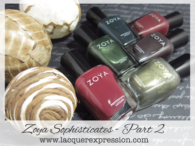nail polish swatch of the Zoya fall 2017 Sophisticates collection