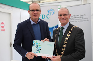Simon Coveney and Kieran Dennison at Fingal LECP Launch