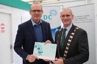 Simon Coveney and Kieran Dennison at Fingal LECP Launch